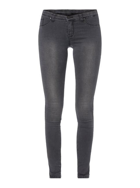 Second Skin Fit Jeggings im Washed Out Look Grau / Schwarz - 1