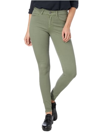 Dr. Denim Skinny Fit High Waist Jeans Olivgrün - 1