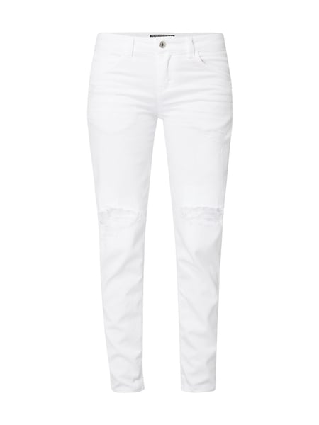 dde851d71f3f Drykorn – Cropped Tapered Fit Jeans im Destroyed Look – Weiß