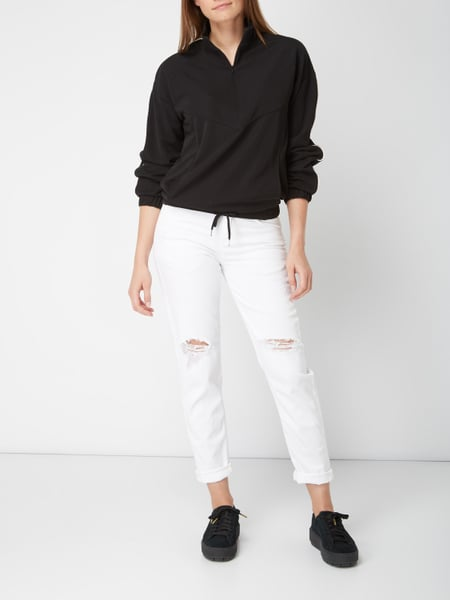 Cropped Tapered Fit Jeans im Destroyed Look Drykorn