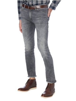 Drykorn Double Stone Washed Slim Fit Jeans Marineblau meliert - 1
