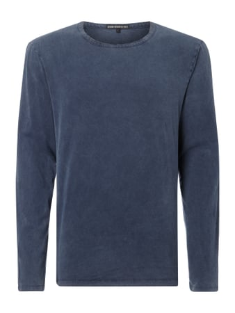 Longsleeve im Washed Out Look Blau / Türkis - 1