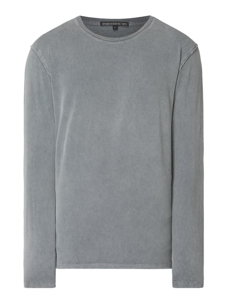 Drykorn Longsleeve im Washed Out Look Grau - 1