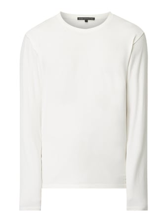 Drykorn Longsleeve im Washed Out Look Weiß - 1