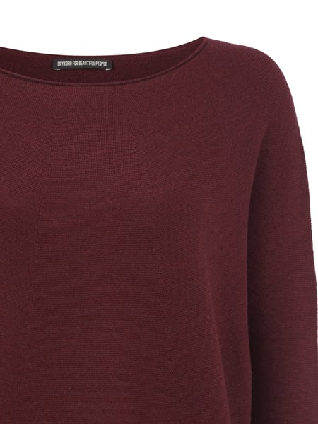 new style 41275 6afb6 DRYKORN Oversize Pullover aus reiner Schurwolle in Rot ...
