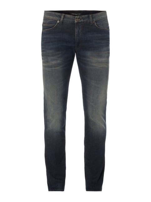 Sand Washed Slim Fit Jeans Blau / Türkis - 1