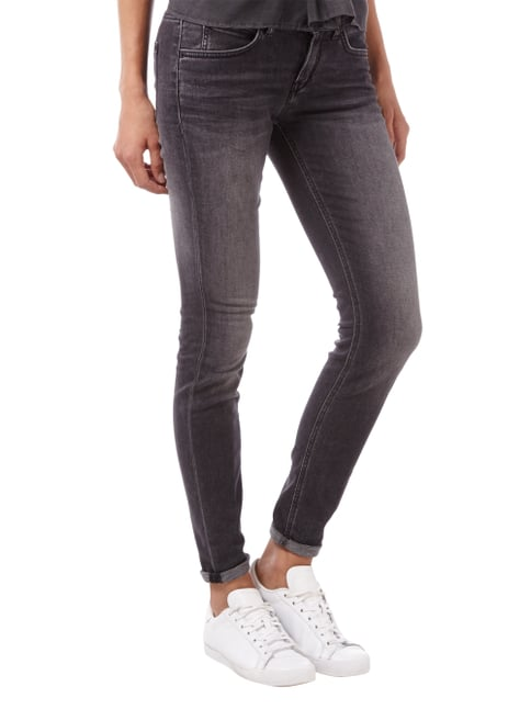 Drykorn Skinny Fit Jeans im Stone Washed Look Dunkelgrau - 1