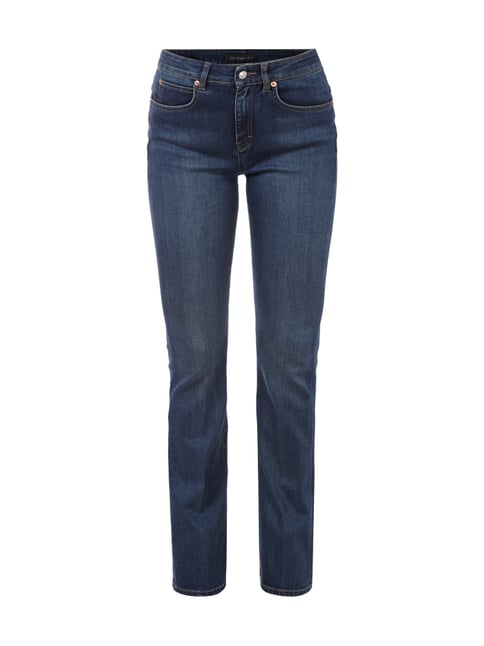 Stone Washed Jeans im Flared Cut Blau / Türkis - 1