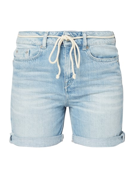 Drykorn Stone Washed Low Rise Jeansshorts Blau / Türkis - 1