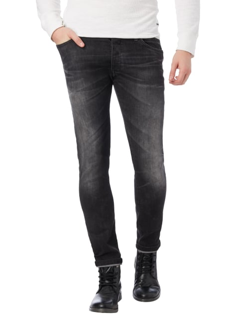 Drykorn Stone Washed Skinny Fit Jeans Anthrazit meliert - 1