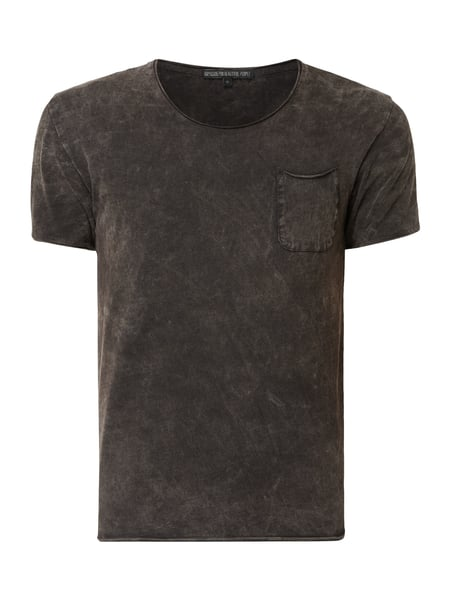 Drykorn T-Shirt im Washed Out Look Grau / Schwarz - 1