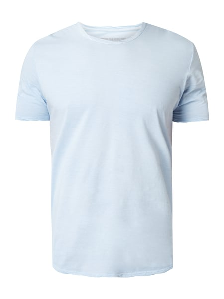 Drykorn Marius - T-Shirt im Washed Out Look Bleu