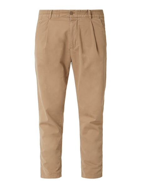 Drykorn Tapered Fit Jogpants mit Bundfalten Beige - 1