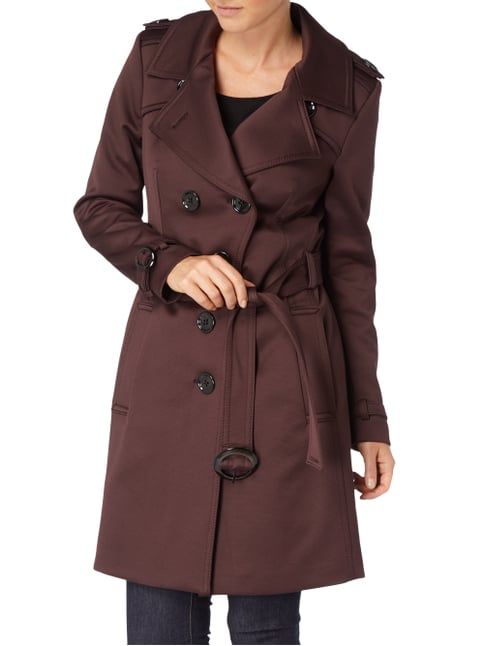 Drykorn Trenchcoat mit Taillengürtel Bordeaux Rot - 1