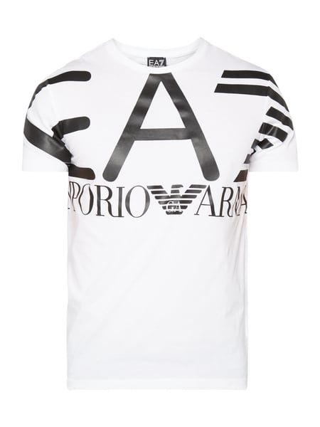 huge selection of 2ecb8 7c83f EA7 Emporio Armani – T-Shirt mit Logo-Print – Weiß