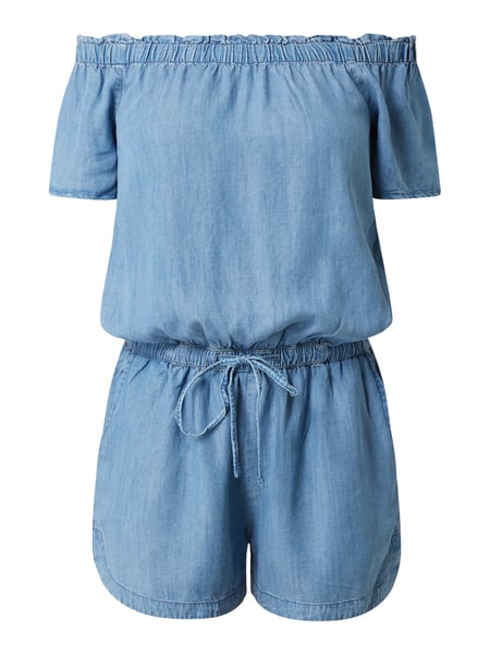 edc By Esprit Playsuit im Off Shoulder Look Blau - 1