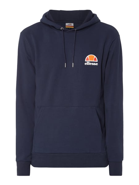 ellesse hoodie mit gummiertem logo print in blau t rkis. Black Bedroom Furniture Sets. Home Design Ideas