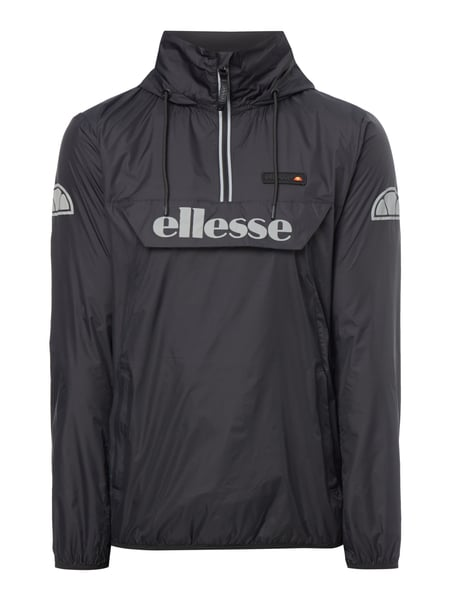 ellesse jacke in schlupfform in grau schwarz online. Black Bedroom Furniture Sets. Home Design Ideas