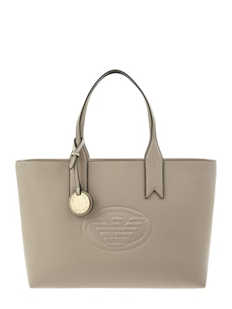 Emporio Armani Shopper in Leder-Optik Beige - 1