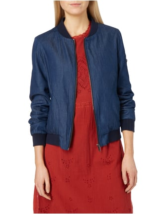 Esprit Bomber in Denimoptik Marineblau - 1