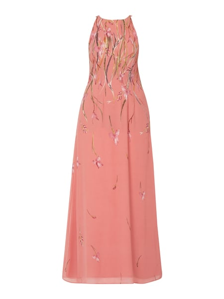 Esprit Collection Abendkleid aus Chiffon mit floralem Muster Rosa - 1