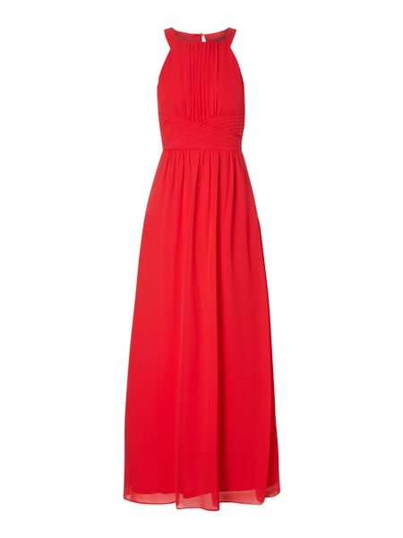 esprit collection abendkleid aus chiffon  rot