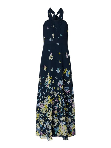 Esprit Collection Abendkleid mit floralem Muster Blau - 1