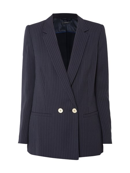 Esprit Collection Blazer mit Nadelstreifen Blau - 1