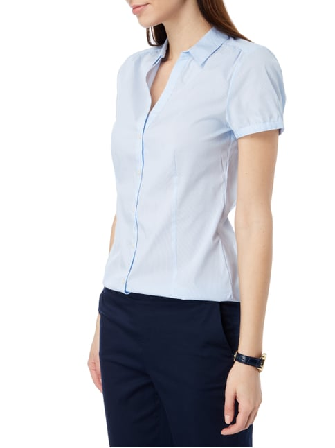Esprit Collection Bluse mit kurzen Ärmeln Bleu - 1