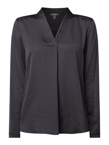 Esprit Collection Blusenshirt aus Satin Schwarz - 1