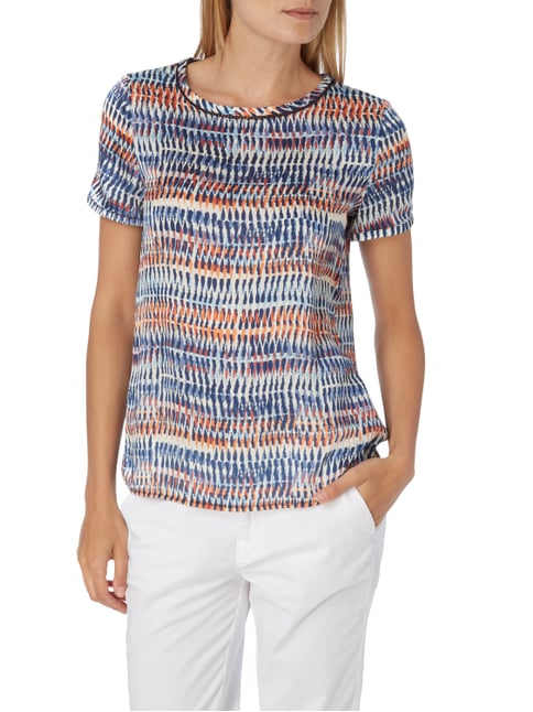 Esprit Collection Blusenshirt mit Allover-Muster Marineblau - 1