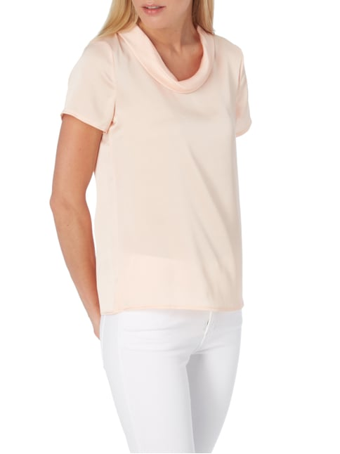 Esprit Collection Blusenshirt mit umgelegtem Kragen Rosa - 1