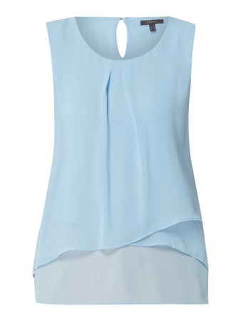 Esprit Collection Blusentop aus Chiffon im Double Layer Look Blau - 1