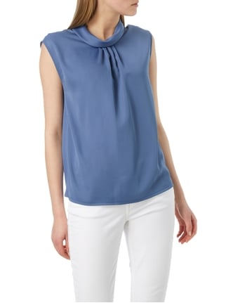 Esprit Collection Blusentop mit Stehkragen Blau - 1