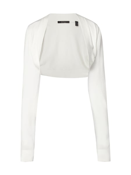 Esprit Collection Bolero mit Schalkragen Offwhite