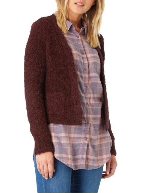 Esprit Collection Cardigan mit Mohair-Anteil Bordeaux Rot - 1