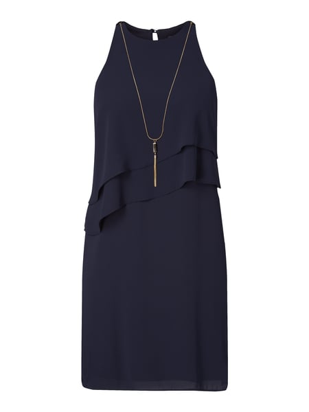 Esprit Collection Cocktailkleid aus Chiffon Marineblau