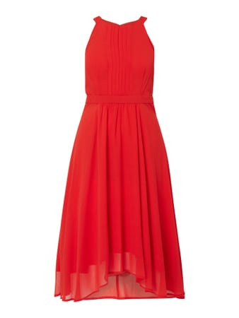 Esprit Collection Cocktailkleid aus Chiffon mit Biesen Orange - 1