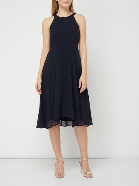 esprit collection cocktailkleid aus chiffon mit biesen