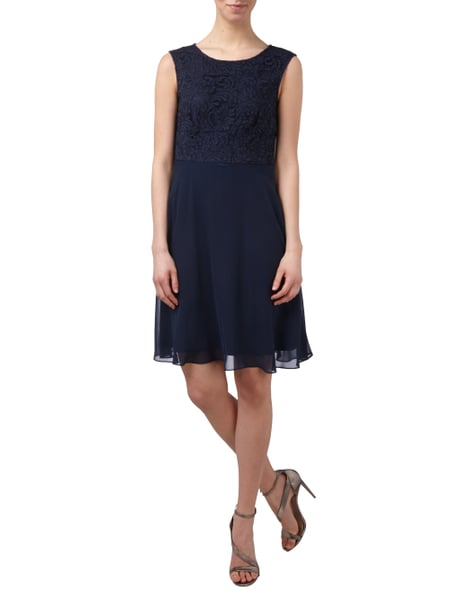 Esprit Collection Cocktailkleid aus Chiffon mit floraler Spitze in Blau    Türkis - 1 36ebf79846