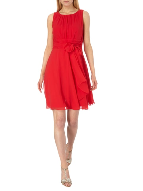 Esprit Collection Cocktailkleid aus Chiffon mit Taillenband in Rot - 1