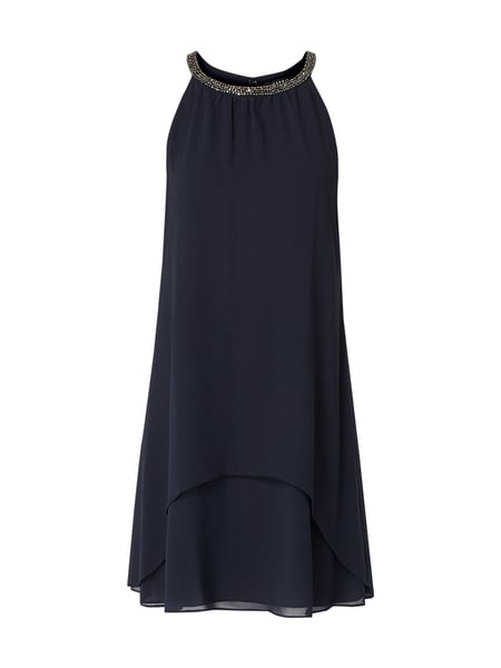 Esprit Collection Cocktailkleid im Double Layer Look Blau - 1