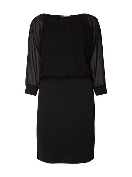 Esprit Collection Cocktailkleid mit Oberteil aus Chiffon Schwarz