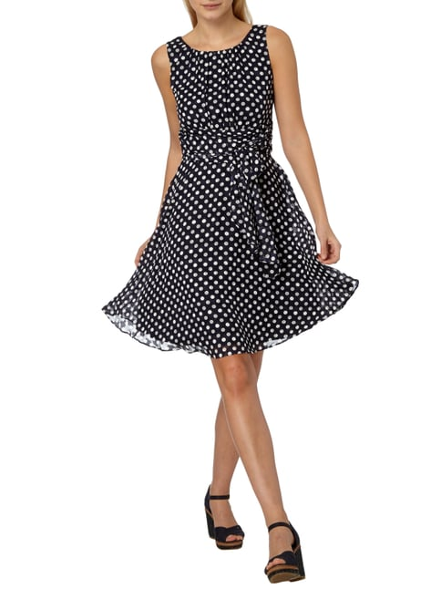 Esprit Collection Cocktailkleid mit Polka Dots in Blau / Türkis - 1