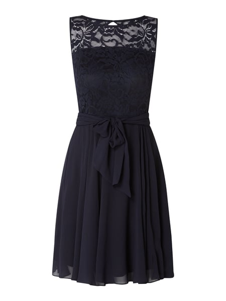 Esprit Collection Cocktailkleid mit Taillengürtel Blau - 1