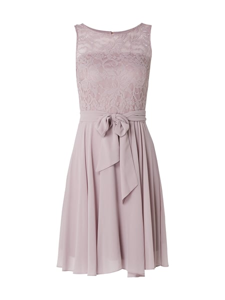 Esprit Collection Cocktailkleid mit Taillengürtel Rosa - 1
