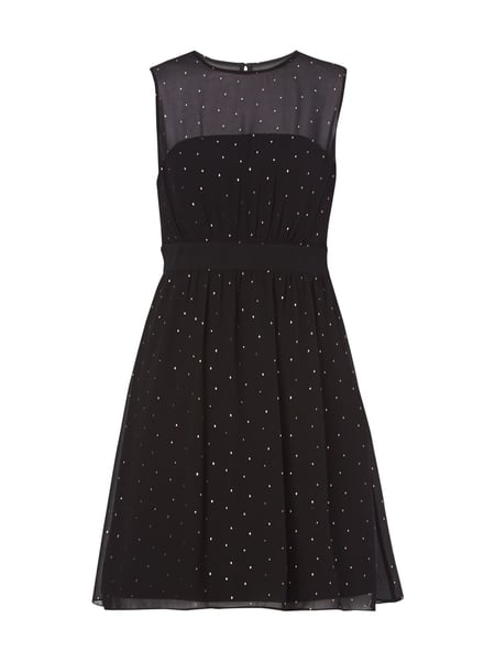 Esprit Collection Cocktailkleid mit Tupfenmuster Schwarz