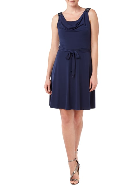 Esprit Collection Cocktailkleid mit Wasserfallausschnitt in Blau / Türkis - 1