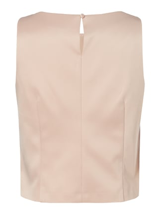 Esprit Collection Cropped Blusentop aus Satin Rosa - 1