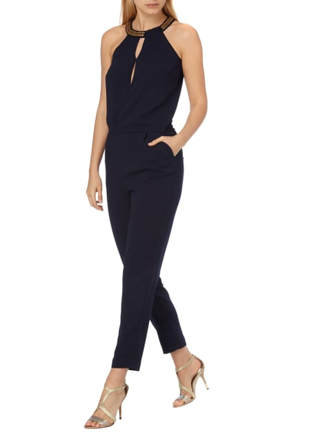 Esprit Collection Jumpsuit mit Collierkragen in Blau / Türkis - 1